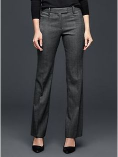 Plaid modern boot pants - Our favorite way to wear them: Clean cut flares. Pair them with chunky leather wedges and a half-tucked denim western shirt.