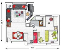 small apartment ideas, design layout