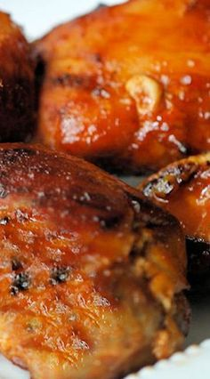 Pressure Cooker Honey BBQ Boneless Chicken Thighs - so delicious. Fall apart tender. Too tender to flip on the oven so I just broiled on low and basted twice about 10 mins.
