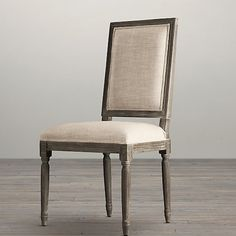 MASINFINITO CASA - French Style OAK Dining Chair / Fabric Linen
