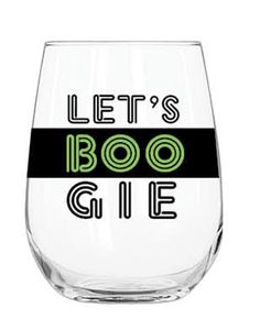 Stemless Acrylic Wine Glass - Let's Boogie - Halloween - Holiday - Gifts & Occasion Holiday Drinkware, Home Gifts, Wine Glass, Barware, Let It Be, Tableware, Halloween, Holiday Gifts, Entertaining