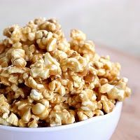 Peanut Butter Popcorn. I'm going to try this and then drizzle with chocolate, or add some chopped Reeses!