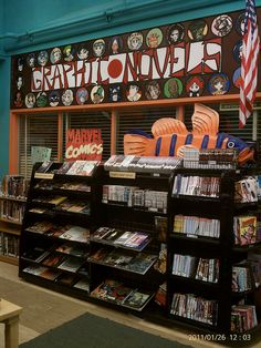 Great ideas for graphic novel displays