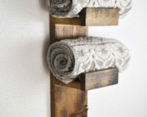 Rustic Towel Rack, Hand Towel Rack, Rustic Home Decor, Rustic Bathroom, Towel Hook, Mother's Day Gift