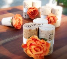 Wedding Place Card Holders in Tangerine