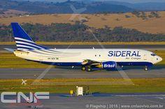 Boeing 737-400F Sideral Air Cargo PR-SDV   por CNF ao vivo