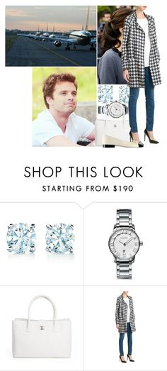 """""""Leaving for the wedding of Prince Albert II of Monaco and Charlene Wittstock with Michael"""" by princess-katharina ❤ liked on Polyvore featuring Sebastian Professional, Tiffany & Co., Chanel and MANGO"""