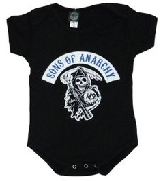 Amazon.com: Sons of Anarchy Reaper Logo Baby Creeper Romper - Black: Clothing
