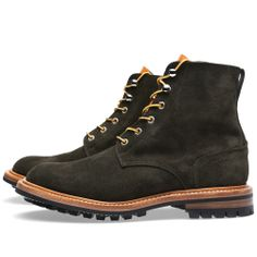 END. x Tricker's Low Leg Logger Boot (Earth Repello Suede)
