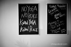 No yoga, no peace. Know yoga, know peace. (not entirely true, there are many paths to one destination, but lovely still, referencing perception.)