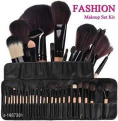Accessories Standard Choice Makeup Brushes Set Product Name: Makeup Brush Set of 24 Black Product Type: Makeup Brushes Set  Description: It Has 1 Pack Of Makeup Brushes Set ( Packing Contains 24 Pieces ) Country of Origin: India Sizes Available: Free Size   Catalog Rating: ★3.9 (3369)  Catalog Name: Make Up Premium Unique Choice Makeup Brushes Set Vol 1 CatalogID_248796 C51-SC1246 Code: 873-1887381-