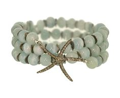Love!  $720 Renee Sheppard aquamarine and diamond bracelet found on twistonline.com