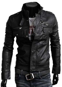 Kattee® Men's Stand Collar Multi Pocket PU Leather Motorcycle Jacket (Asia:L=US:S) Kattee,http://www.amazon.com/dp/B00C7KP1H8/ref=cm_sw_r_pi_dp_mLfvtb1MFN1GG449