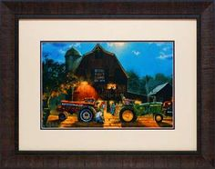 "Title:  The Rematch Retail Price: $138.00 Artist: Barnhouse, Dave Outside Dimension: 23x29 Frame: 2.5"" brown scoop Product Code: N1196"
