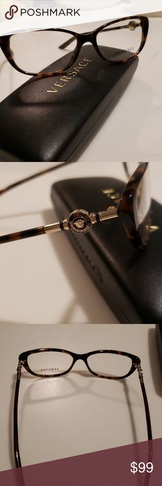 f06b5e949e0fe Versace eyeglass frames Brand new pair of Versace prescription eyeglass  frames with gold medusa logo on