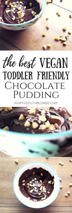 Healthy toddler food baby food pregnancy food and a healthy snack in substitution for processed foods. Click thru for this easy quick & nutritious recipe! Chocolate Paleo, Vegan Chocolate Pudding, Chocolate Recipes, Dessert Simple, Dairy Free Recipes, Baby Food Recipes, Food Baby, Toddler Recipes, Baby Foods
