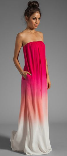Sunset maxi dress.