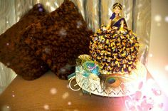 Bride doll - the skirt made out of cadbury choclair Bride Dolls, Making Out, Sweets, Chocolate, Skirt, Breakfast, Handmade, Food, Sweet Pastries