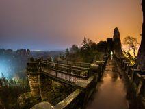 Basteibrücke bei Nacht - Leinwand