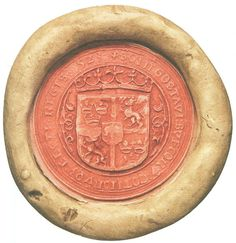 Seal of Gustav Vasa (Gustaf Wasa) of Sweden, 1523