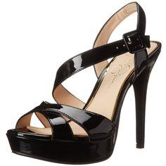 Jessica Simpson Women's Beverlie Platform Pump ($85) ❤ liked on Polyvore featuring shoes, pumps, fancy shoes, black pumps, patent pumps, black patent shoes and patent leather shoes