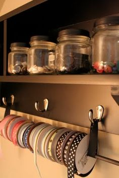 like this ribbon rack...functionable yet interchancable