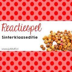 Juf-Stuff: Reactiespel: Sinterklaas