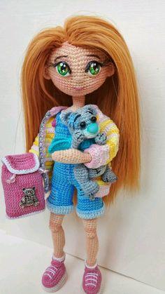 4125fe2615b3 Вязание ручной работы. Мастер-класс по авторской вязаной кукле. Ксения.  Интернет-