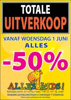 TOTALE UITVERKOOP: ALLES -50%! (Alles Kids Lennik) -- Lennik -- 01/06-30/06