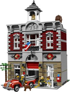 My love of Legos and miniature things meet each other in this tiny Lego firehouse!
