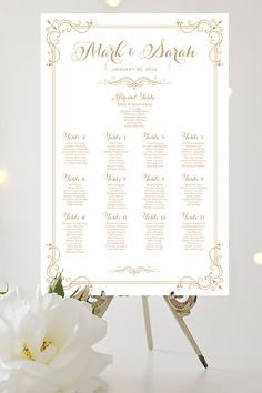 Wedding Seating Chart  by Table  Large by CharmingEndeavours