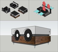 Another idea for a custom SFF case : sffpc Wood Computer Case, Custom Computer Case, Computer Build, Computer Setup, Diy Pc, Custom Consoles, Computer Projects, Mini Itx, Custom Pc