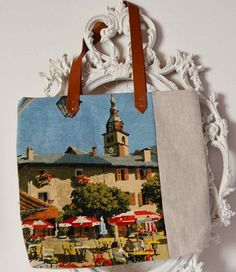 French+needlepoint++tapestry+and+natural+linen+by+FrenchDecoChic,+€46.00