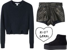 """Riot Girl"" by claudia-mccann ❤ liked on Polyvore"