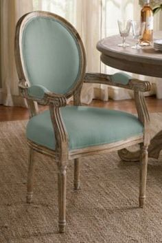 Oval Back Bergere Armchair - Oak Armchair, Dining Room Chair, Writing Desk Chair   Soft Surroundings
