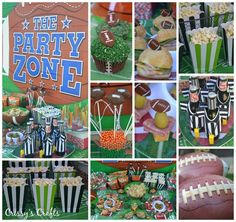 Lots of fun ideas at a Football party!  See party ideas at CatchMyParty.com!  #partyideas #football