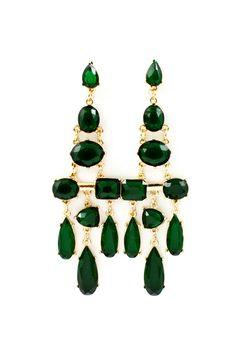 Emerald Deco Statement Earrings | Emma Stine Jewelry Earrings