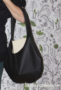 DIY Flux Leather Bag free pattern & tutorial
