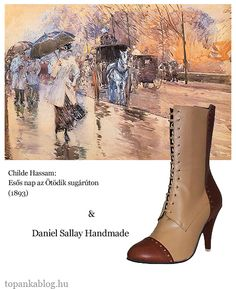 Painting by Childe Hassam, shoes by Daniel Sallay Handmade