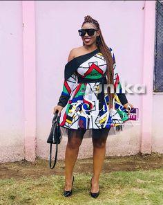Latest Ndebele Traditional Dresses - Sunika Traditional African Clothes Tsonga Traditional Dresses, Traditional Dresses Designs, Zulu Traditional Attire, Traditional African Clothing, African Lace Dresses, African Clothes, African Attire, African Outfits, Dress Attire