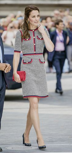 6-29-17: The Duchess of Cambridge arrives at the Victoria and Albert Museum to open its new Exhibition Road entrance