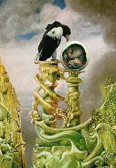 MAX ERNST  Surrealist painter of Loplop the bird & all he surveys
