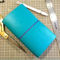 DIY: How to make a Midori style Traveler's Notebook for under $5! Tags: Midori journal travelers notebook paper crafts diy planners filofax kikki-k