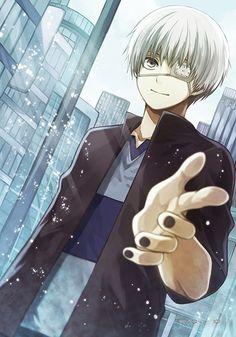 Kaneki Ken | Tokyo Ghoul #anime [by http://www.pixiv.net/member_illust.php?mode=medium&illust_id=47055638]