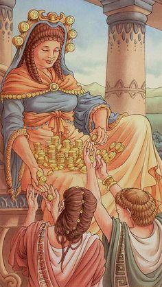 6 d'écus - Tarot déesse universelle par Antonella Platano & Maria Caratti
