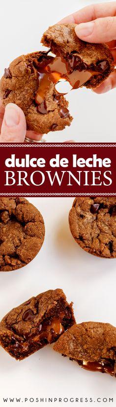 I created a dulce de leche brownie recipe using dulce de leche I got in Argentina. I also added espresso to elevate the chocolate flavor.