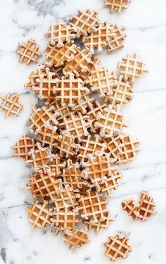 Mini Peanut Butter and Jelly Waffles #breakfast #recipe #mini #waffles