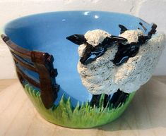 Sheep Yarn Bowl by EarthWoolFire on Etsy