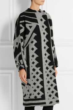 Burberry Prorsum | Wool and cashmere-blend blanket coat #FW14 #trend