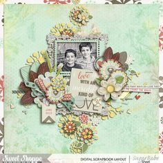 Digital scrapbook page by SeattleSheri using I Love you Infinity by Amber Shaw